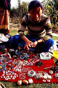tibetan pedlar in Nepal
